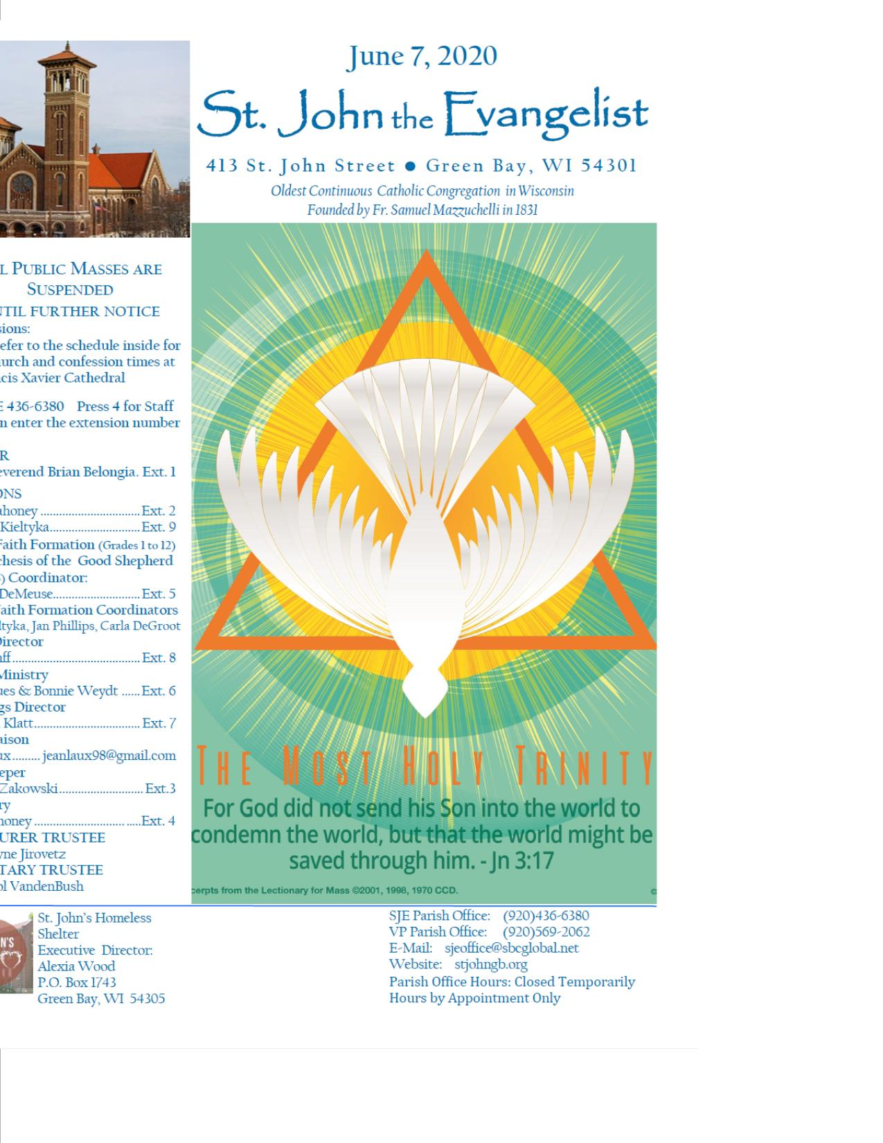 St John the Evangelist: Oldest Continuous Catholic Congregation in